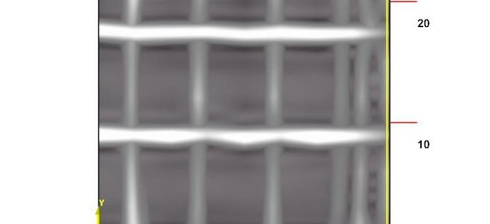 GPR 3-D slice image showing rebar mat