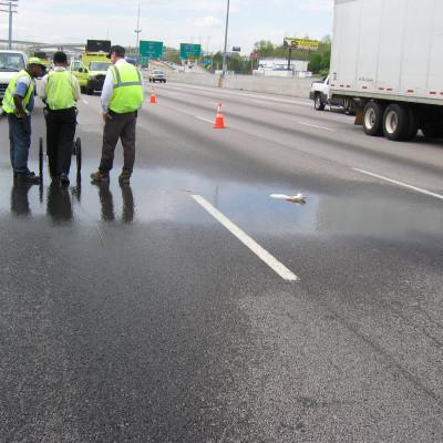 GPR Investigation of Water Main Break under I-85